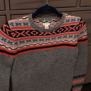J Crew Neon Fair Isle Sweater EUC